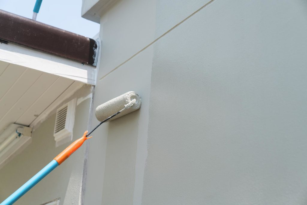 painting the outside wall