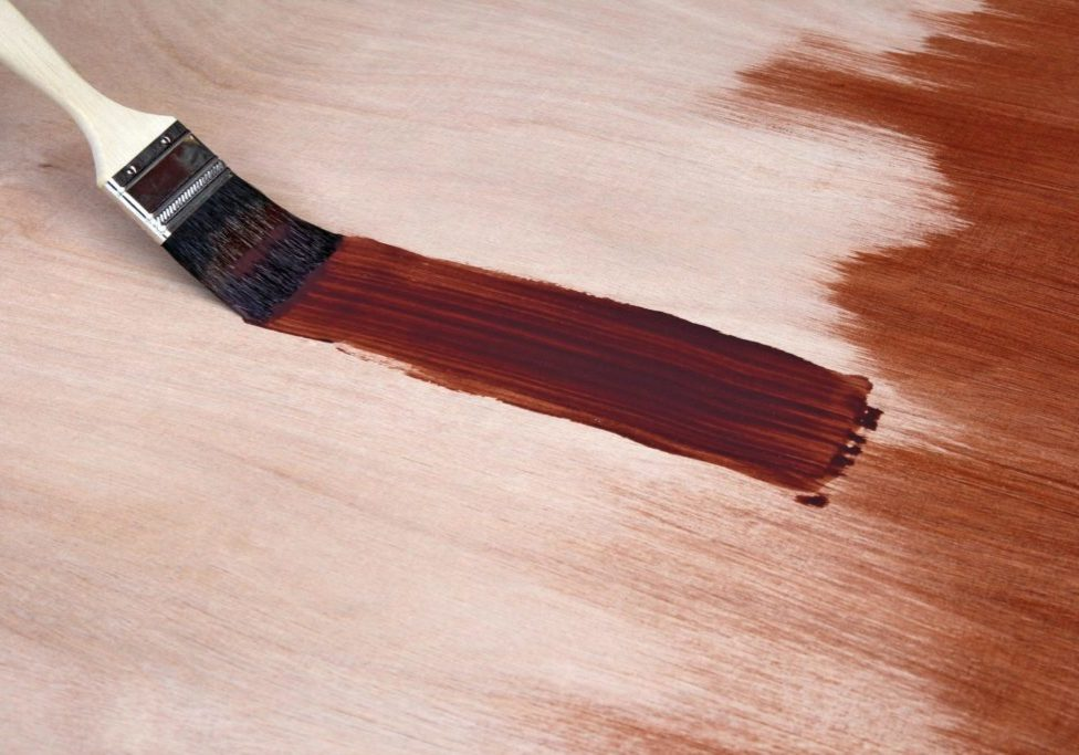 staining the wood board